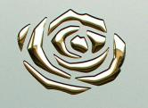3D ROSES Champagne PF metGold